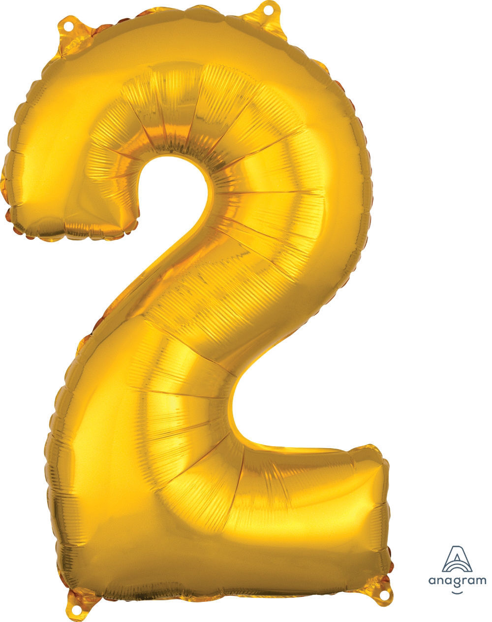 Picture of 26'' Gold Number 2 - Foil Balloon (helium-filled)