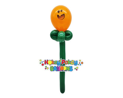 Picture of Pumpkin Face Wand - Balloon