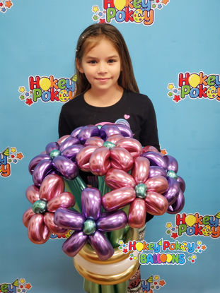 Picture of Deluxe Flower Balloon Bouquet ( 9 pc )