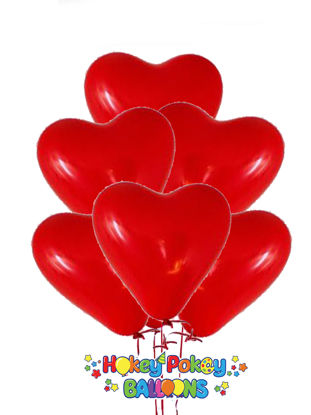 Picture of 15'' Heart Latex Balloon Bouquet (up to 50 balloons)
