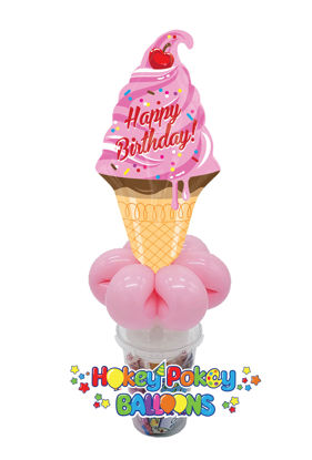 Picture of Birthday Ice Cream - Balloon Candy Cup