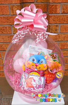 Picture of Welcome Baby - Stuffed Balloon Gift with Bow